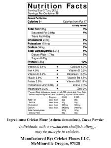 Cricket Flour Nutrition