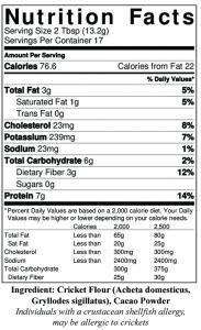 Protein in Cricket Flour