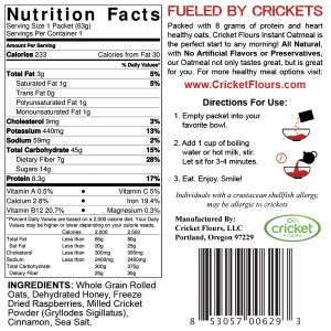Cricket Flour Nutrition