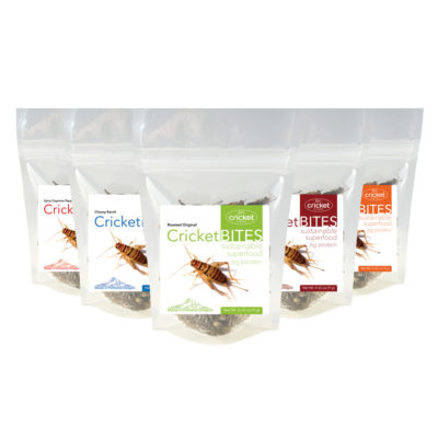 Flavored Roasted Cricket Bites