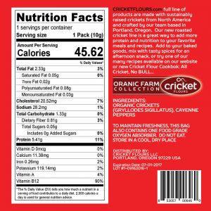Roasted Crickets Nutrition