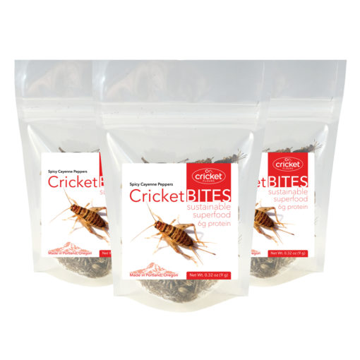 Roasted Cricket Bites Made in Portland Oregon